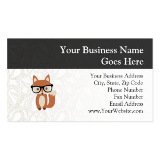 Hipster Baby Fox w/Glasses Pack Of Standard Business Cards