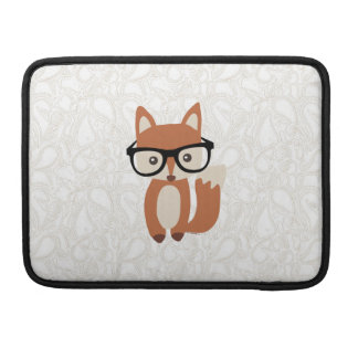 Hipster Baby Fox w/Glasses Sleeves For MacBooks