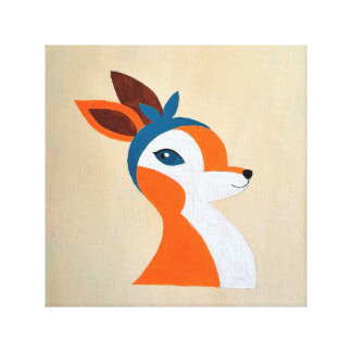 Hipster Bambi Stretched Canvas Prints