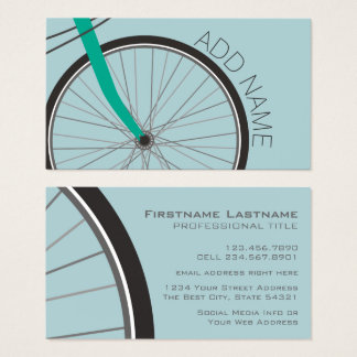 Hipster Bicycle Wheel with Custom Name Business Card