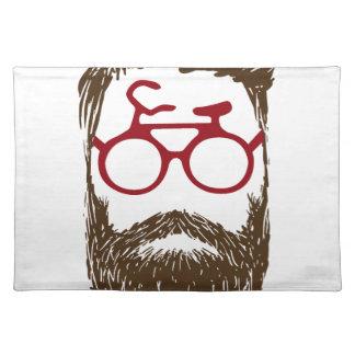 Hipster biker placemat