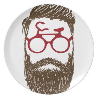 Hipster biker plate
