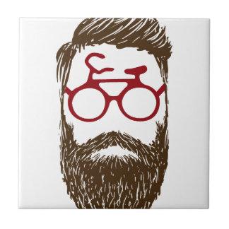 Hipster biker tile
