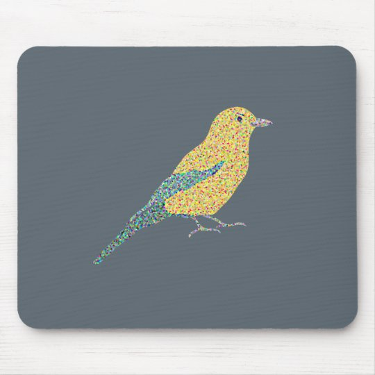 Hipster Birds Mouse Pad