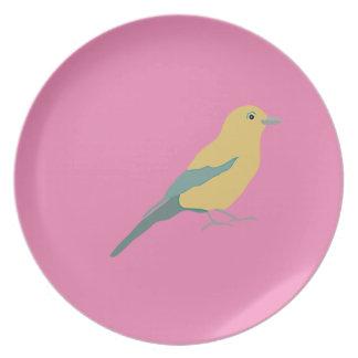 Hipster Birds Plate