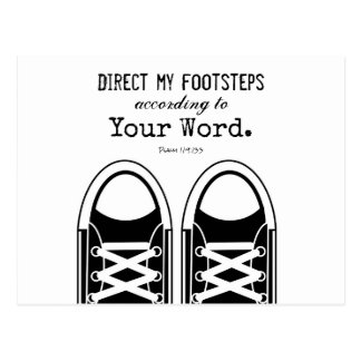 Hipster Black Sneakers with Scripture Postcard