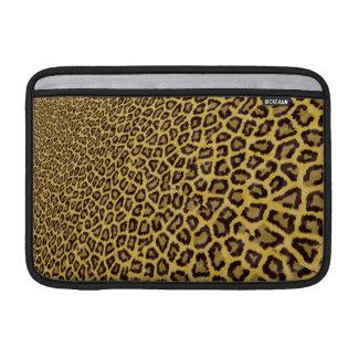 Hipster Black Yellow Animal Print Pattern MacBook Air Sleeve