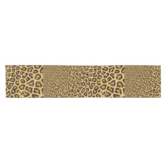 Hipster Black Yellow Animal Print Pattern Short Table Runner