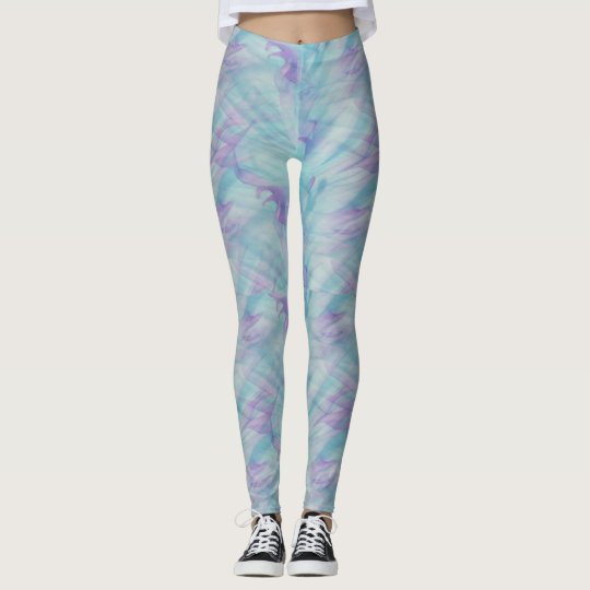 hipster blue purple swirl leggings