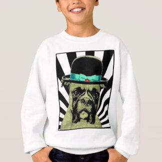Hipster Boxer in Bowler Hat Sweatshirt