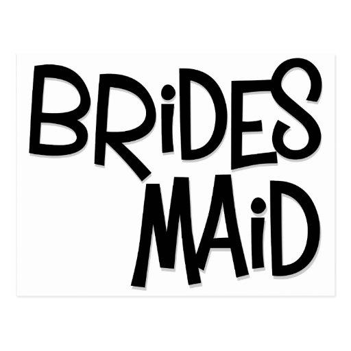 Hipster Bridesmaid Postcard