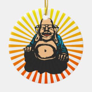 Hipster Buddha Christmas Tree Ornaments
