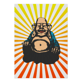 Hipster Buddha Posters