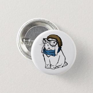 Hipster Bun 1 Inch Round Button