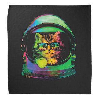 Hipster cat - Cat astronaut - space cat Bandana