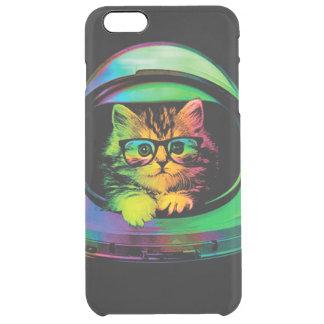 Hipster cat - Cat astronaut - space cat Clear iPhone 6 Plus Case
