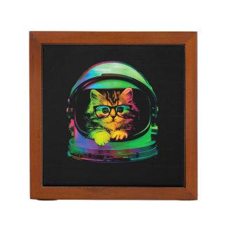 Hipster cat - Cat astronaut - space cat Desk Organizer