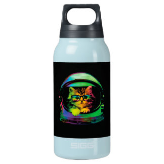 Hipster cat - Cat astronaut - space cat Insulated Water Bottle