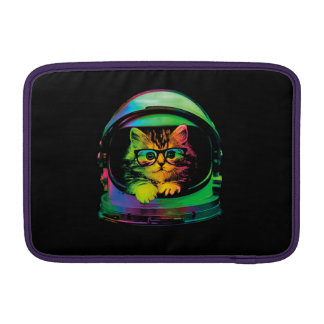 Hipster cat - Cat astronaut - space cat MacBook Sleeve