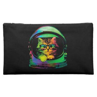 Hipster cat - Cat astronaut - space cat Makeup Bag