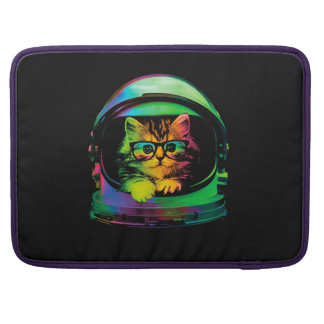 Hipster cat - Cat astronaut - space cat Sleeve For MacBooks