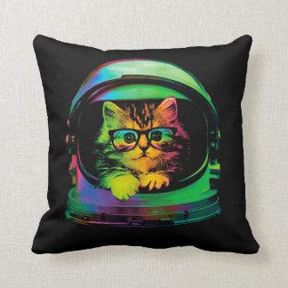 Hipster cat - Cat astronaut - space cat Throw Pillow