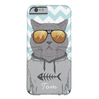 hipster cat cool cat in sweatshirt phone cover