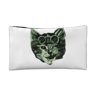 Hipster Cat Cosmetic Bags