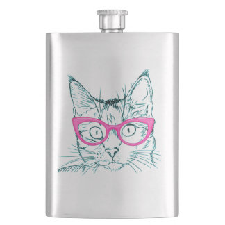 Hipster Cat Flask