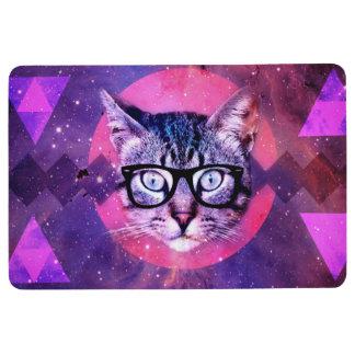 Hipster Cat Floor Mat