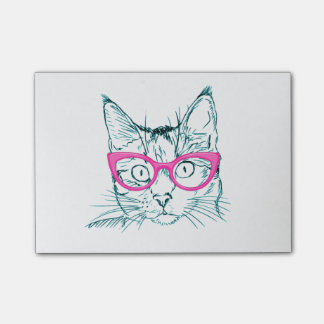 Hipster Cat Post-it® Notes