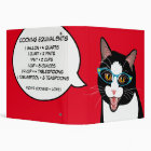 Hipster Cat Recipe Binder Customizable geek Kitty