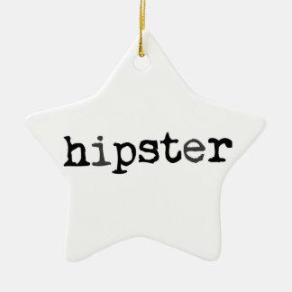 Hipster Ceramic Star Ornament