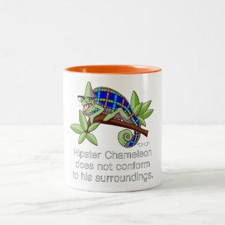Hipster Chameleon Mug