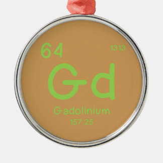 Hipster Chemistry Metal Ornament