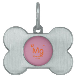 Hipster Chemistry Pet Name Tag