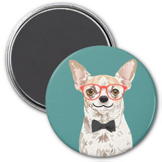 Hipster Chihuahua Magnets
