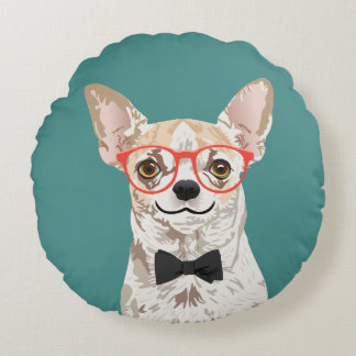 Hipster Chihuahua Pillow