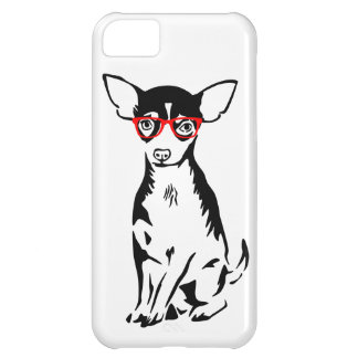 Hipster Chihuahua Red Glasses iPhone 5C Case