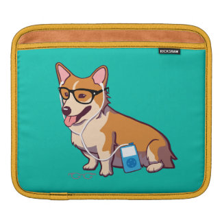 Hipster Corgi iPad Sleeve (without text)