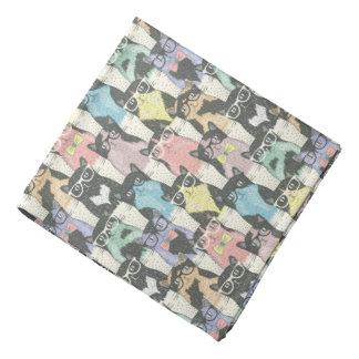 Hipster Cute Cats Pattern Bandana