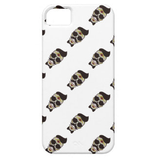 Hipster Day of the Dead Skull iPhone 5 Cases