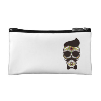 Hipster Day of the Dead Skull Makeup Bags