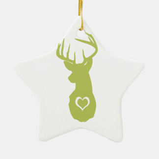 HIPSTER DEER HEAD WITH HEARTS ORNAMENTS