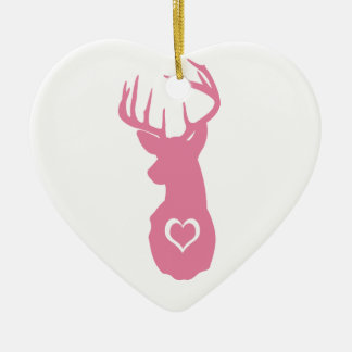 HIPSTER DEER HEAD WITH HEARTS ORNAMENT
