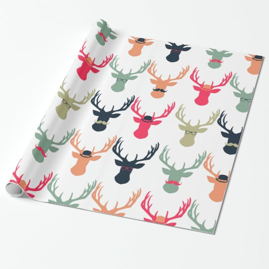 Hipster Deer Wrapping Paper