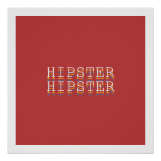 "HIPSTER ""Definitions"" Typography Poster"