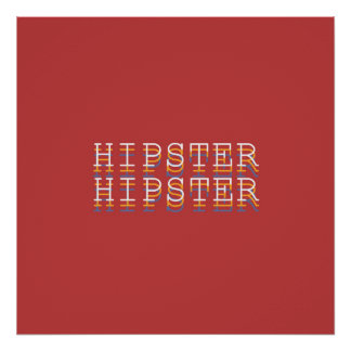 "HIPSTER ""Definitions"" Typography Poster Borderless"