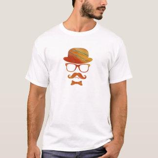 Hipster derby moustache glasses pop art 1 11 T-Shirt