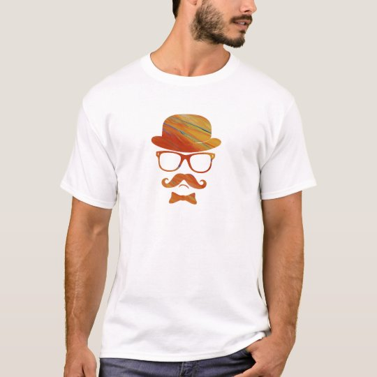 Hipster derby moustache glasses pop art 1 11 T-Shirt
